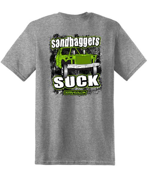 Kids Sandbaggers Suck Tee-Grey