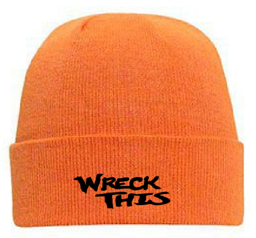 WRECK THIS NEON ORANGE STOCKING HAT