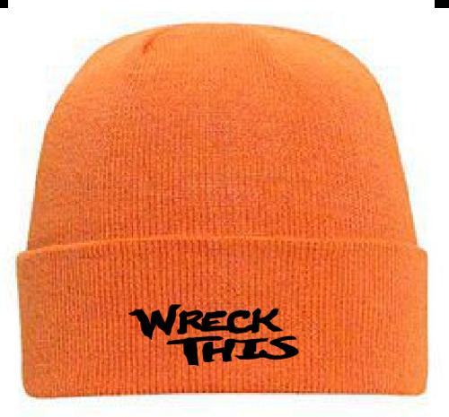 WRECK THIS NEON ORANGE STOCKING HAT 23e91d775e4