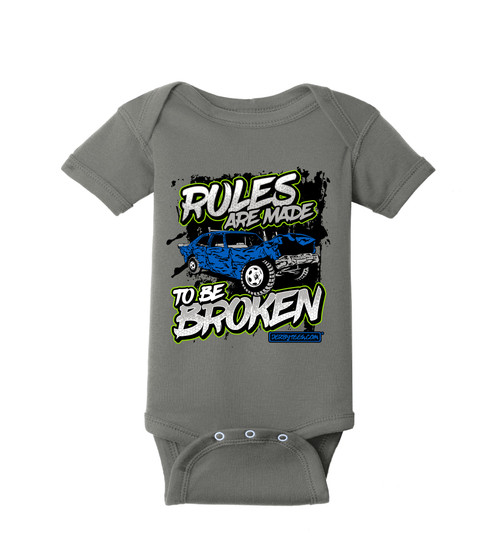 Broken Rules Kids Tee W/ Green
