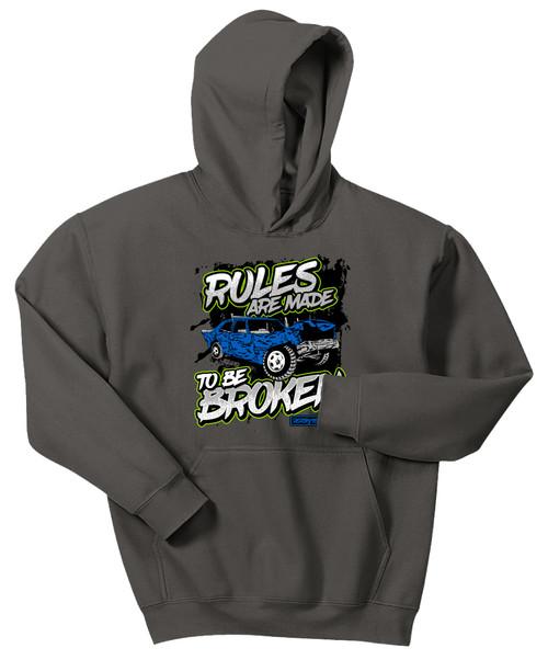 Broken Rules Kids Hoodie W/ Green