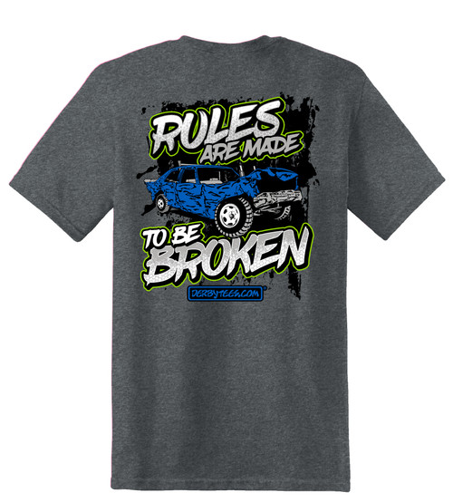 Broken Rules Tee W/ Green
