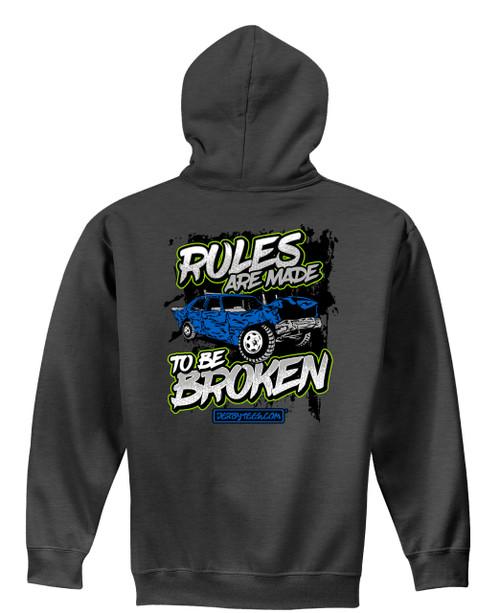Broken Rules Hoodie W/ Green