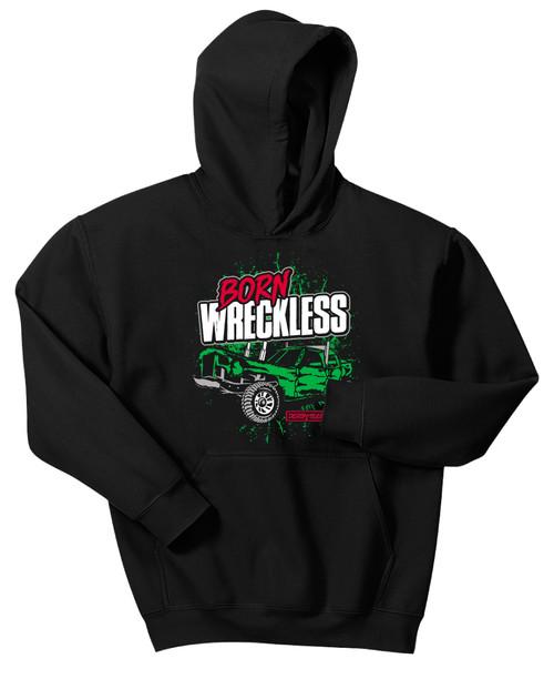 Kids Born Wreckless Hoodie-Black