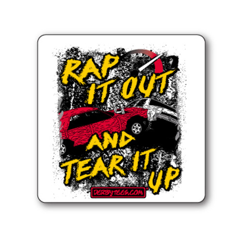 Rap It Out Sticker