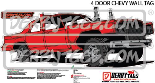 4 Door Chevy Premium Wall Tag