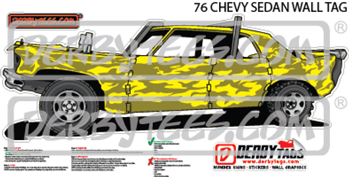 76 Chevy Sedan Premium Wall Tag