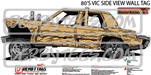 80's Vic Side View Premium Wall Tag