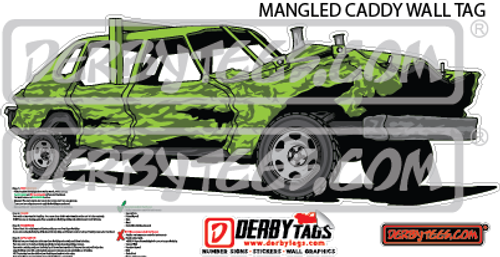 Mangled Caddy Premium Wall Tag