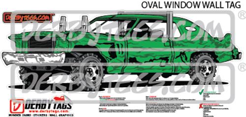 Oval Window Premium Wall Tag