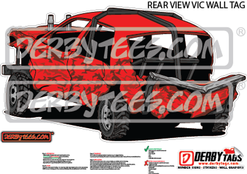 Rear View Vic Premium Wall Tag