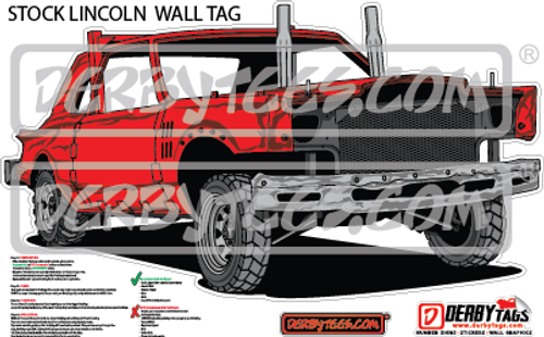 Stock Lincoln Premium Wall Tag
