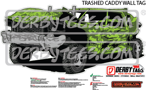 Trashed Caddy Premium Wall Tag