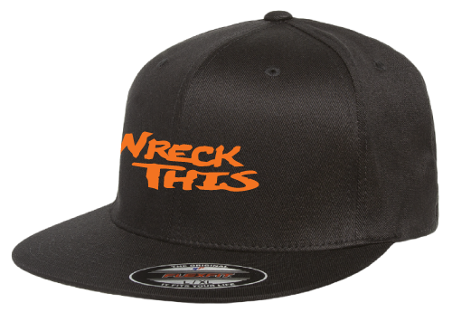 WRECK THIS BLACK FLATBILL HAT (See details for Personalization)