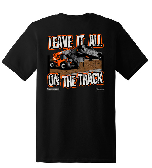 Leave It All On The Track Tee-Black