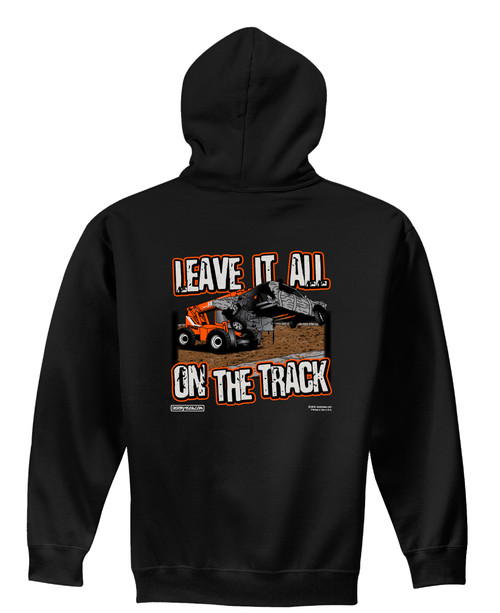 Leave It All On The Track Hoodie-Black