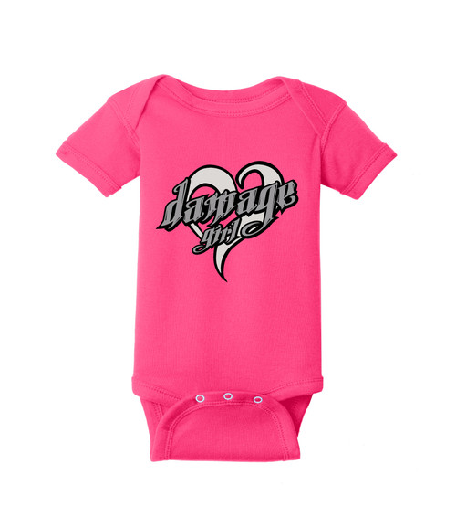 Little Girls Do Damage Tee or Creeper (Pink)