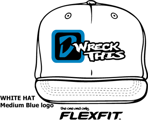 'D' LOGO WRECK THIS WHITE FLATBILL HAT