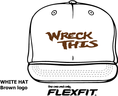 WRECK THIS WHITE FLATBILL HAT (See details for Personalization)