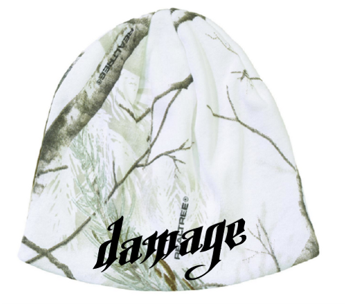DAMAGE SNOW CAMO BEANIE
