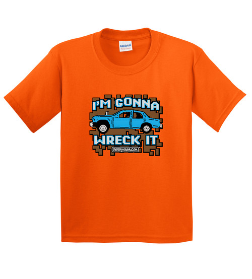I'm Gonna Wreck It Tee or Creeper-Orange