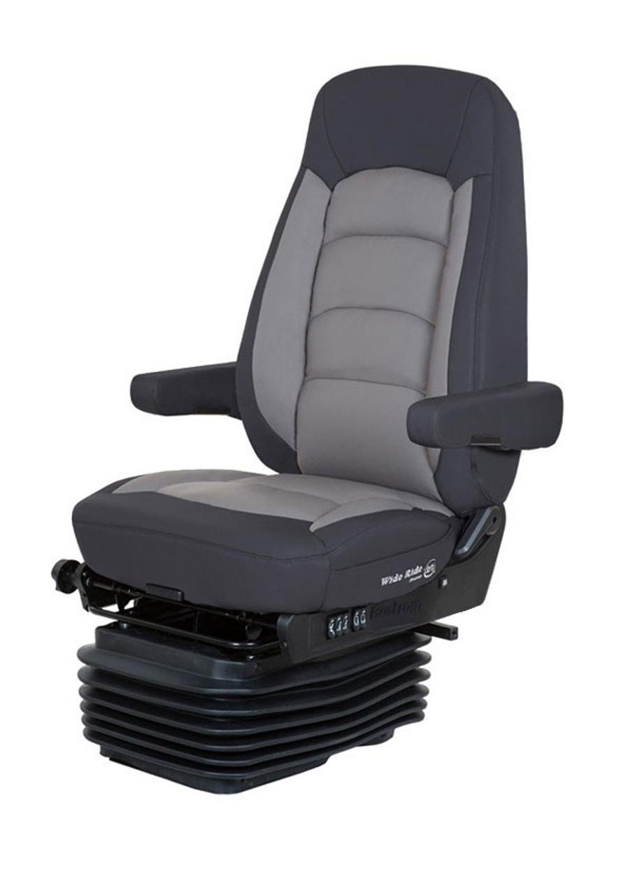 Bostrom Wide Ride + Serta- Gray & Black Leather
