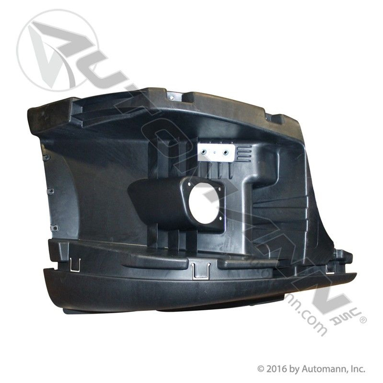 RH Bumper End Reinforcement For Freightliner Cascadia With Fog Lamp Holes