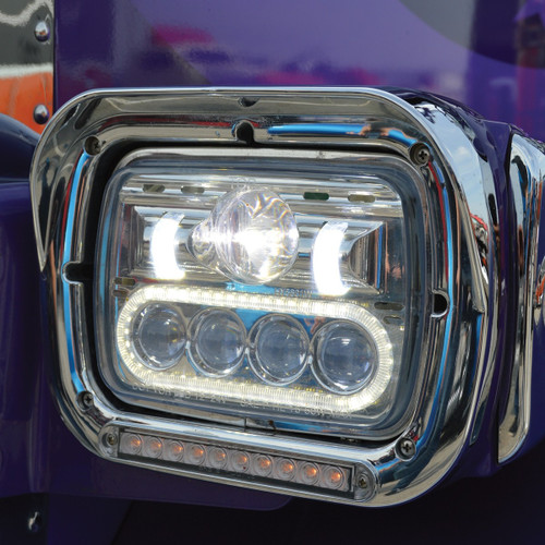 "Trux 5""x 7"" LED Projector Headlight (High/Low Beam): TLED-H4"