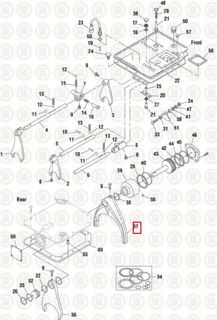 PAI Industries Hi/Lo Fork For Mack: GSF-0662