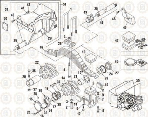 PAI Industries Trunnion Assembly For Mack FTB 4755