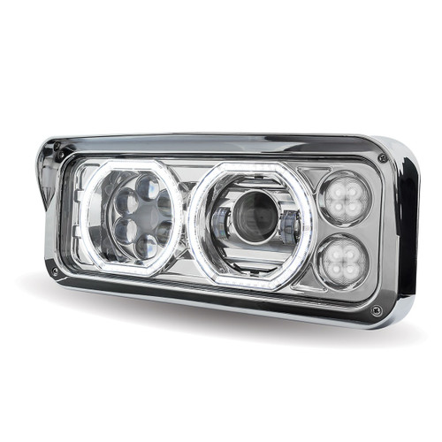 Trux Universal Chrome LED Projector Headlight Assembly (Driver Side): TLED-H100