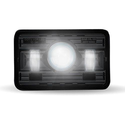 "Trux 4""x 6"" Black LED Projector Headlight (Low Beam): TLED-H73"