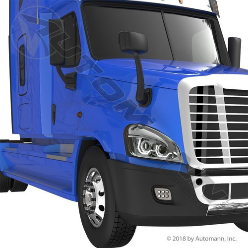 Bumper End RH For Freightliner Cascadia 2008-Up With Fog Lamp Hole