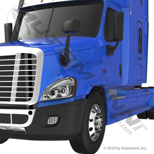 Bumper End LH For Freightliner Cascadia 2008-Up With Fog Lamp Hole