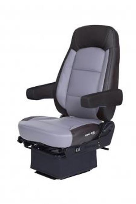 Bostrom Wide Ride Core- Lo Pro, Hi-Back (Black/Gray Leather) W/Smart VAlve