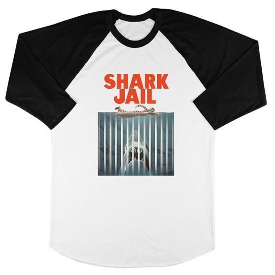 Shark Jail Baseball Tee