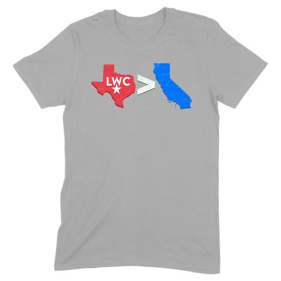 Texas Greater Than California Men's Apparel