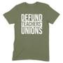 Defund Teachers Union Men's Apparel