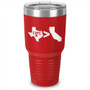 Texas Greater Than California Laser Etched Tumbler
