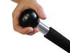 "Heavy Duty Scraper with 18"" Ball End Handle 4"" Blue Steel Blade"
