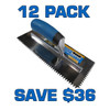 """1/4"""" V Notch Stainless Steel Trowel - 12 Pack"""
