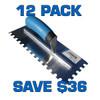 "3/4"" U Notch Stainless Steel Trowel - 12 Pack"