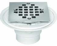 Square PCV Drain with Snap Screen