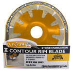 """4.5"""" Diamond Contour Dish Rim Blade"""