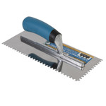 "11/64"" Square Notch Stainless Steel Trowel"