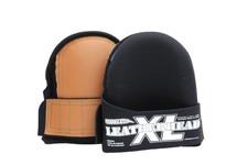 Super Soft Knee Pads Leather Head- Large Black 6 Pack ($50.95 ea)