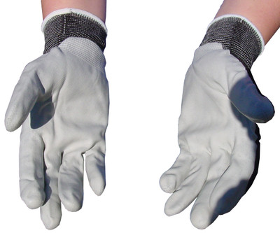 Atlas Gray Nylon Nitrile Gloves