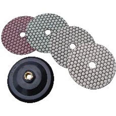 "4"" Diamond Stone Polishing Set with Attachment"