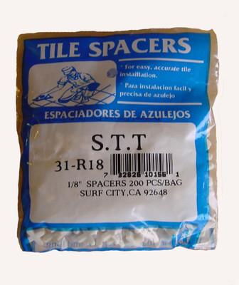 """1/8"""" Regular Spacers 200/BAG"""