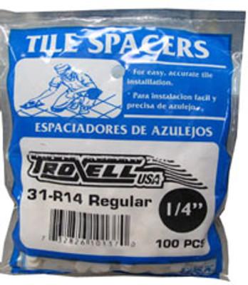 """1/4"""" Regular Spacers 100/BAG"""